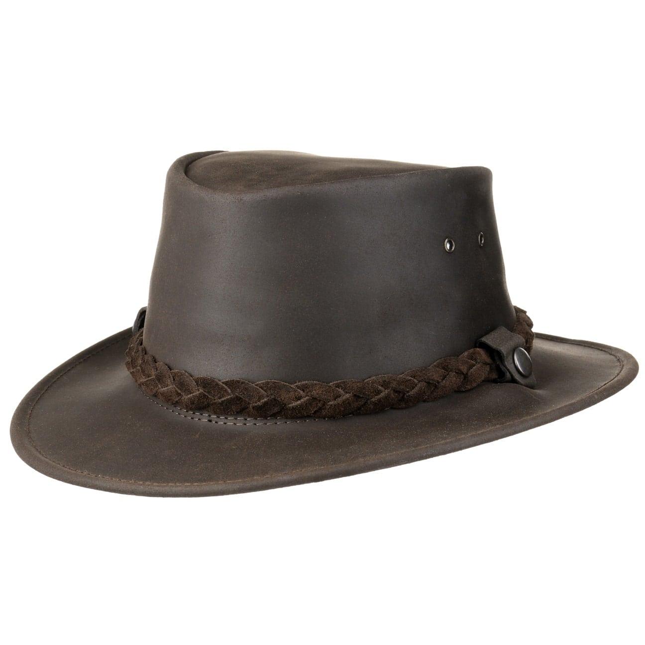 Chapeau en Cuir Highlander Oil by Jacaru  chapeau en cuir naturel