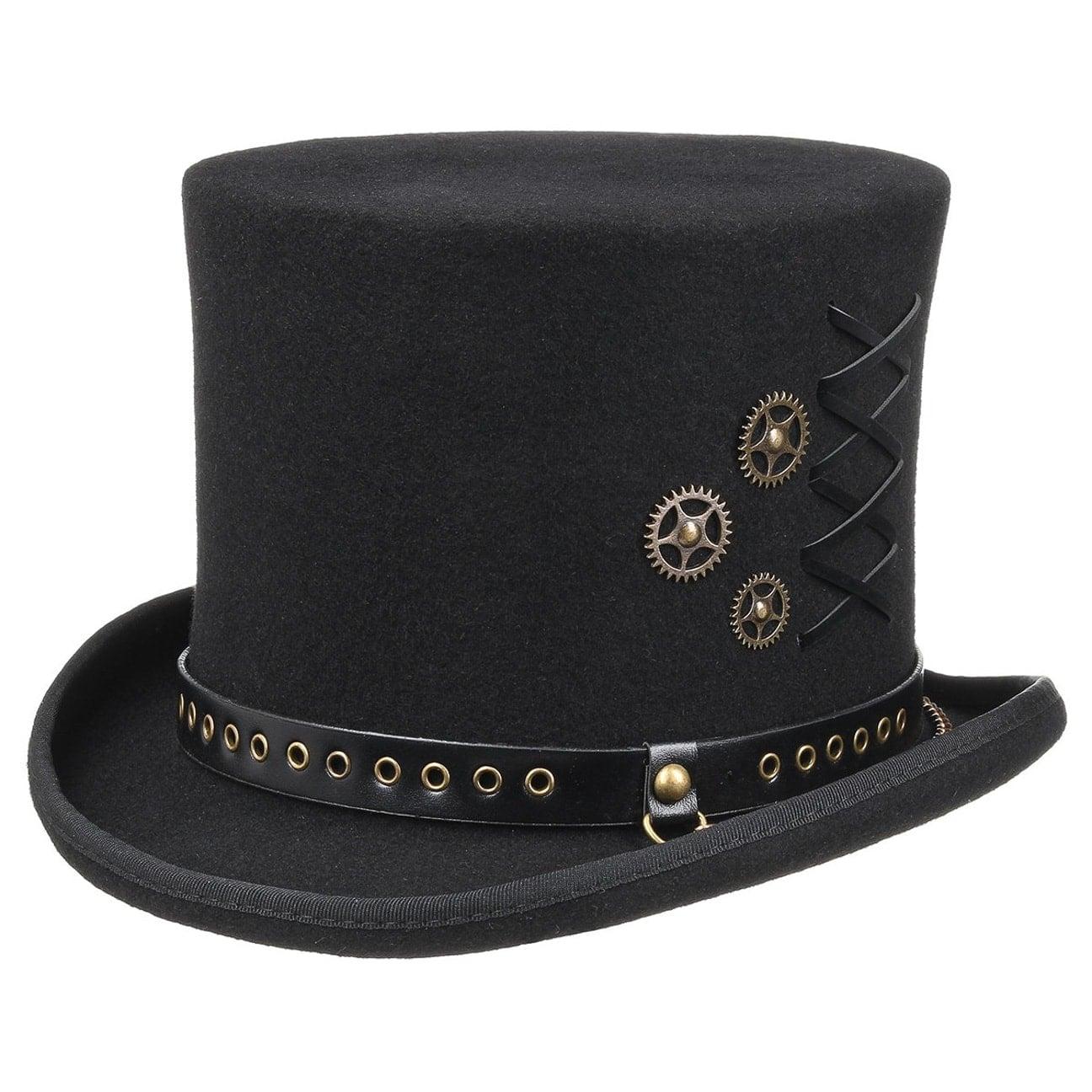Haut-de-Forme Lacing Steampunk by Conner  chapeau pour homme