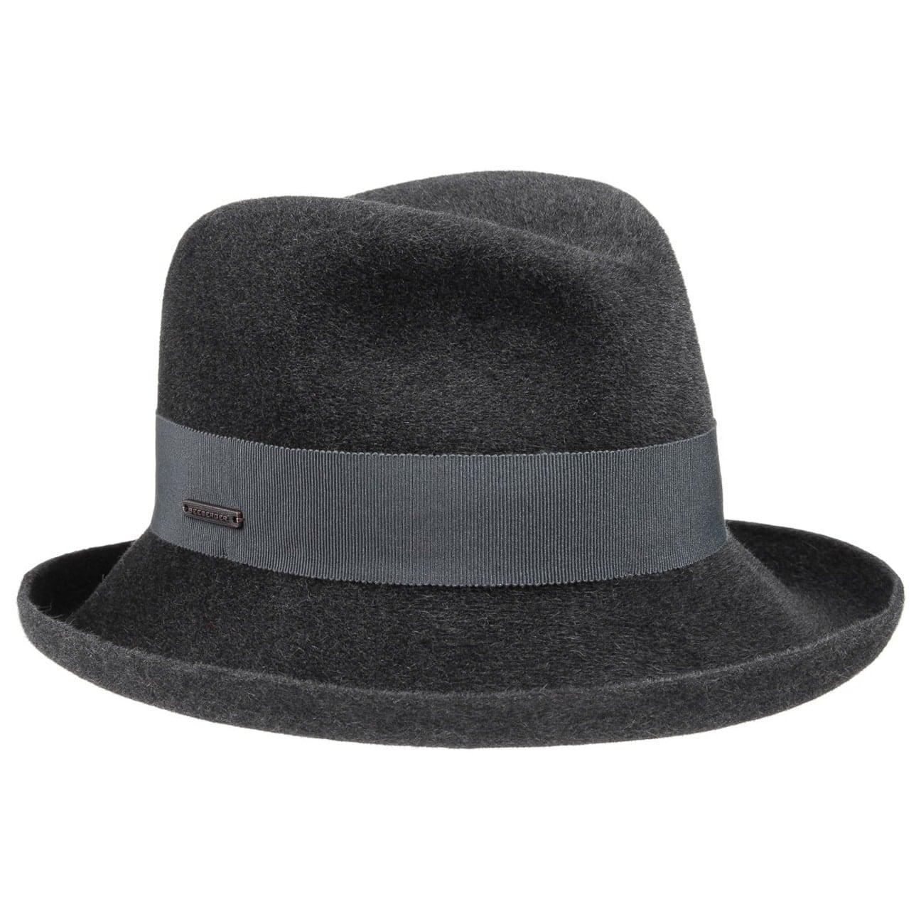 Chapeau Feutre Poil Velours by Seeberger Chapeaux gris One Size