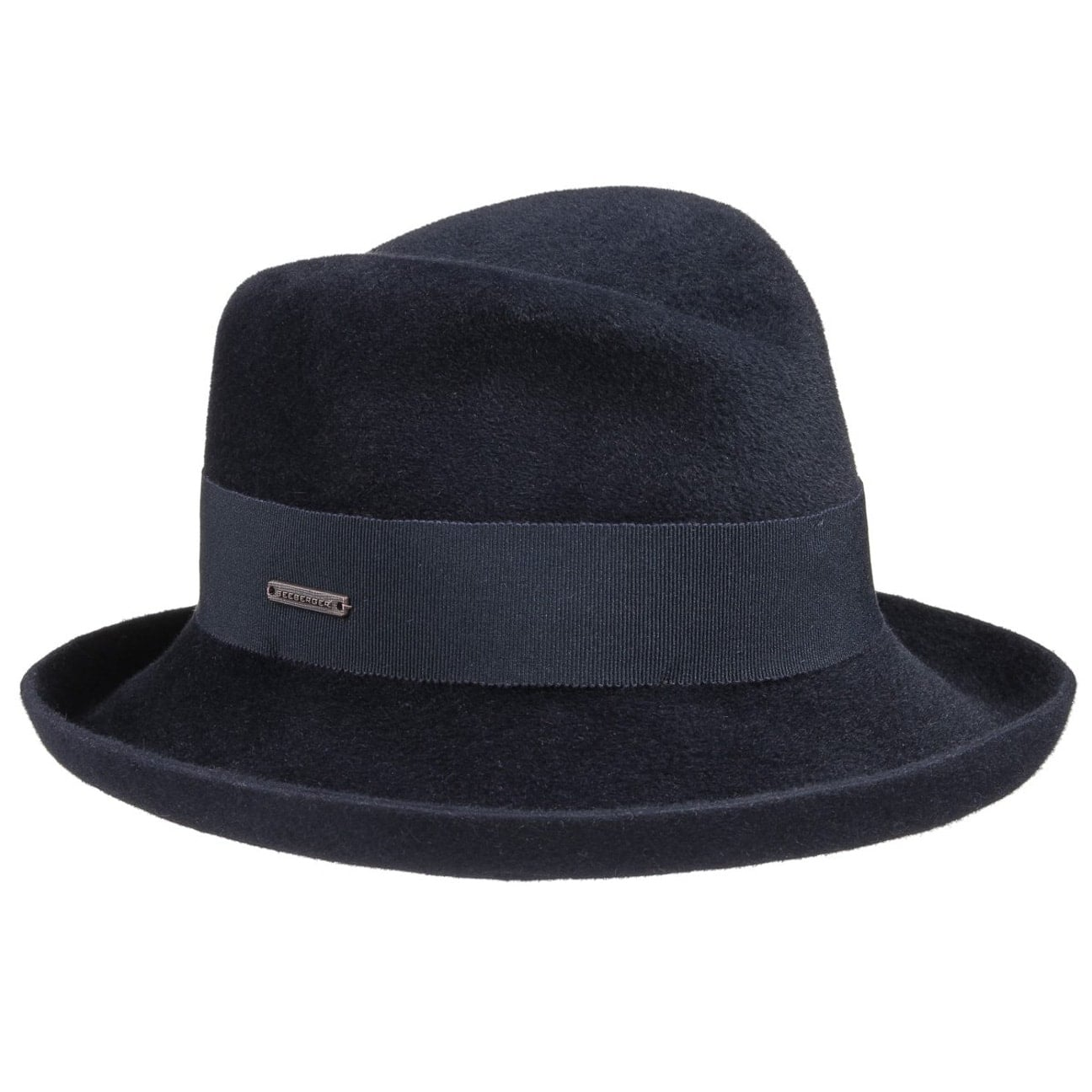 Chapeau Feutre Poil Velours by Seeberger Chapeaux bleu One Size
