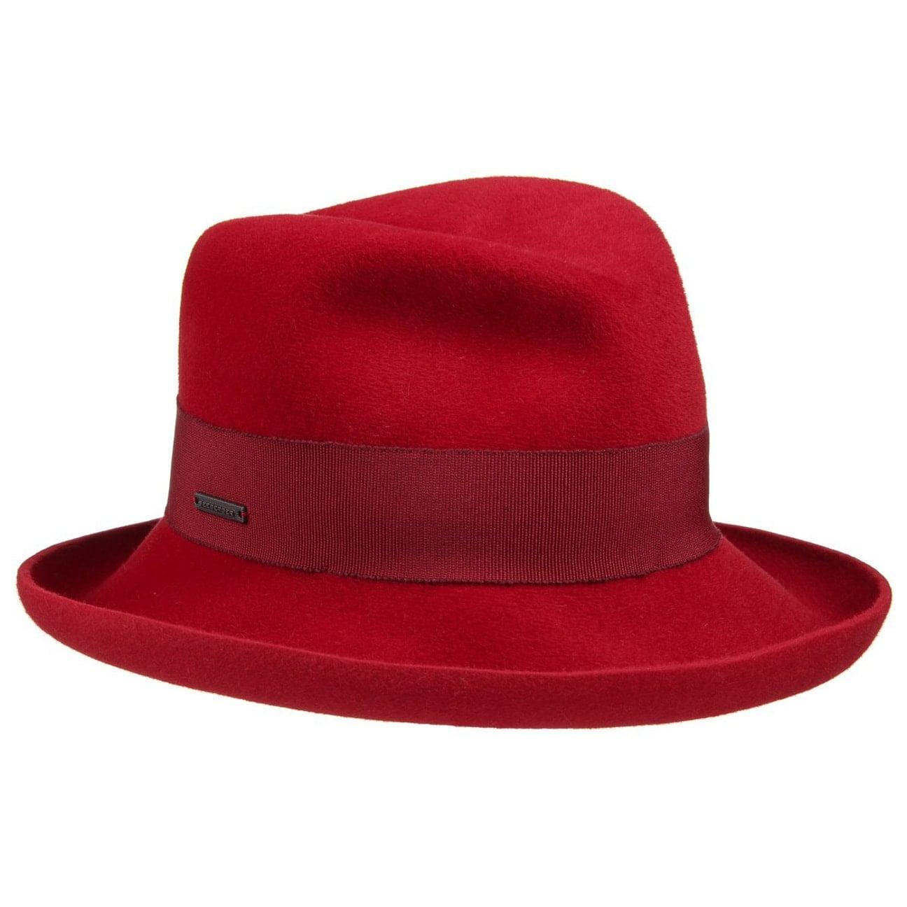 Chapeau Feutre Poil Velours by Seeberger Chapeaux rouge One Size