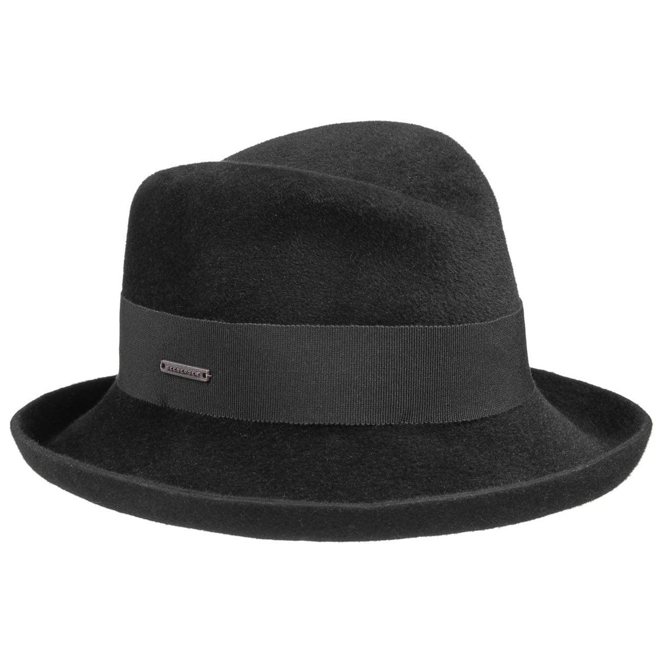 Chapeau Feutre Poil Velours by Seeberger Chapeaux noir One Size