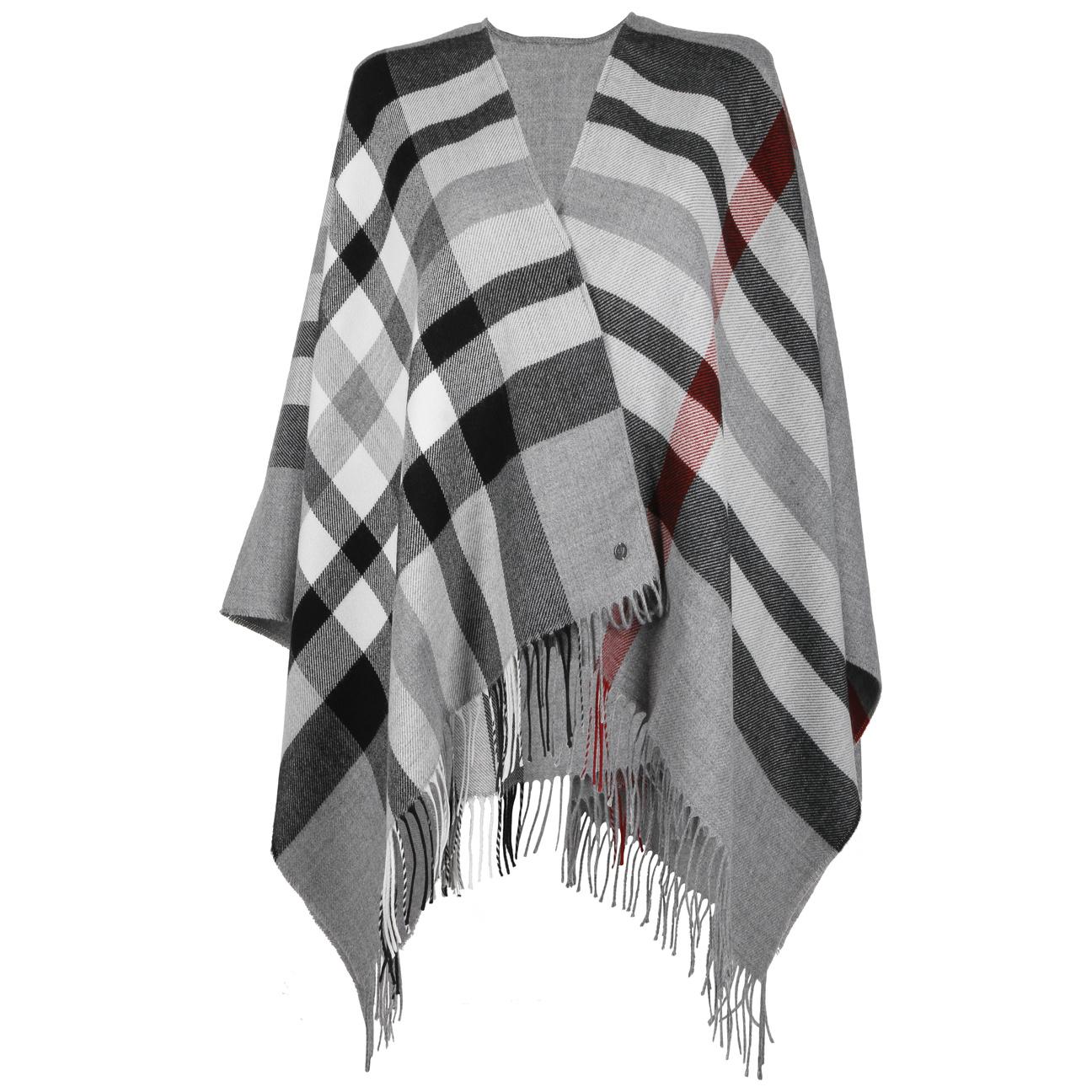 Poncho à Carreaux by Fraas  foulard pour femme