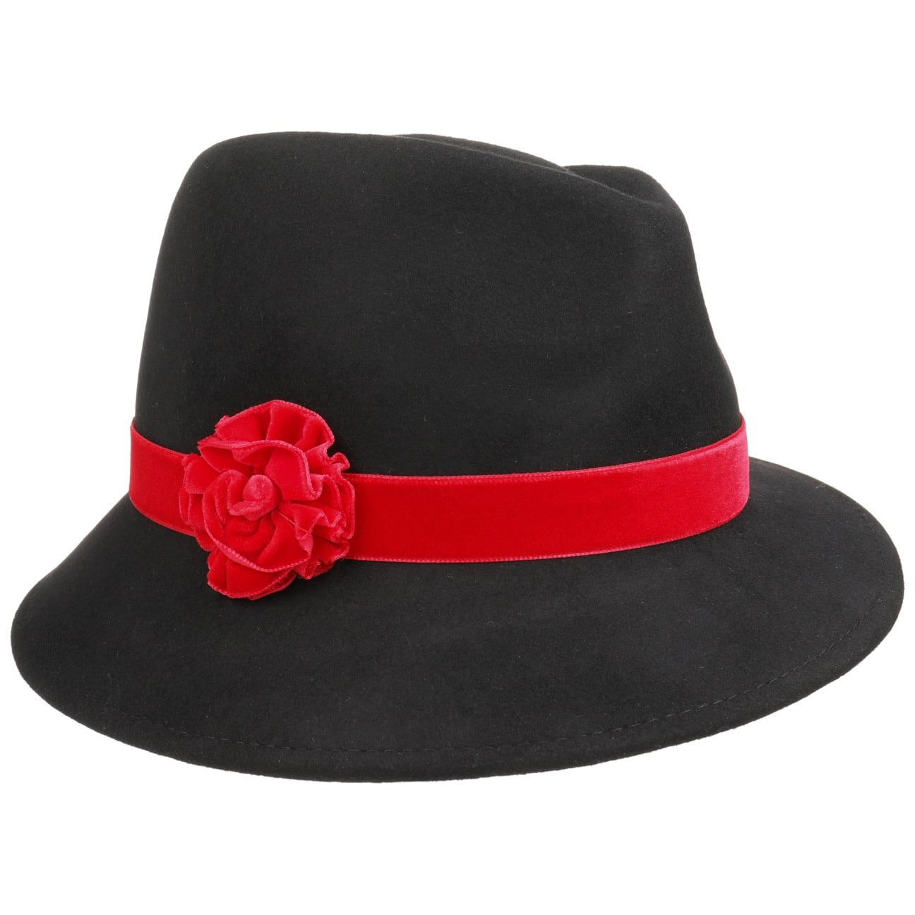 Chapeau pour Femme Velvet Flower by Lipodo  chapeau en feutre de laine