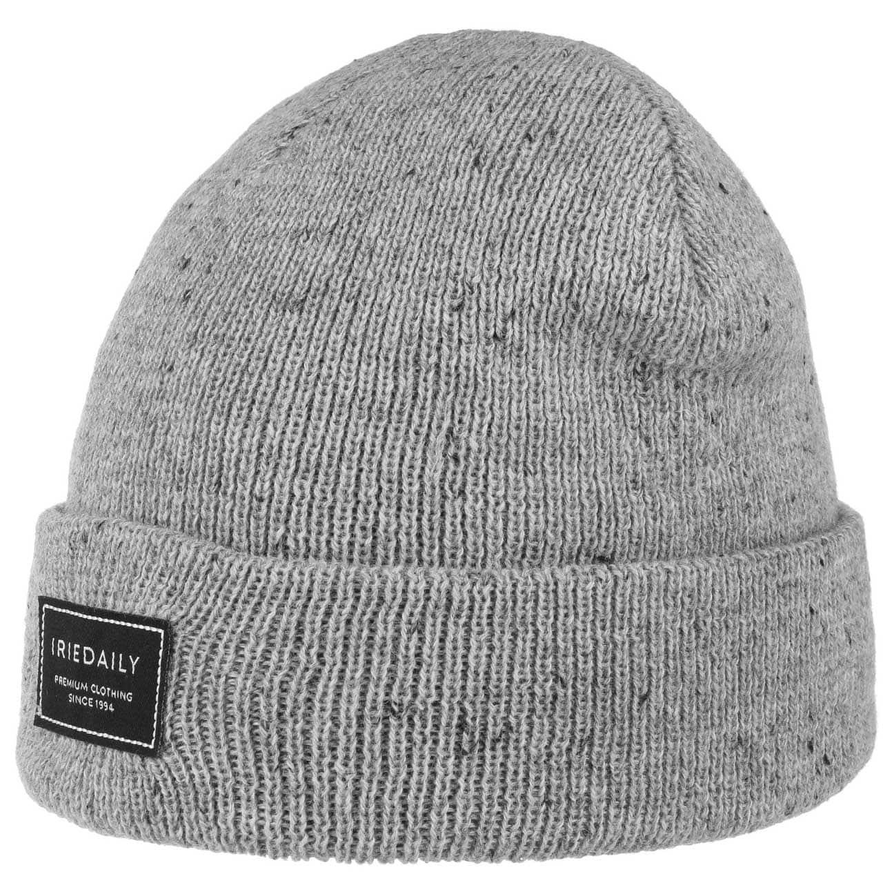 Bonnet Beanie Heavy Tweed by iriedaily  bonnet à revers