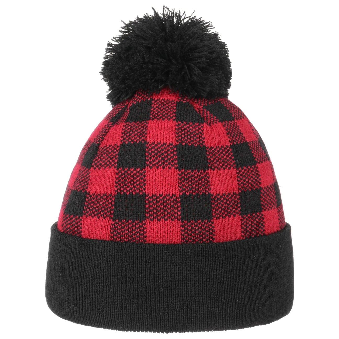 Bonnet à Pompon Checked Beanie  bonnet pour l`hiver