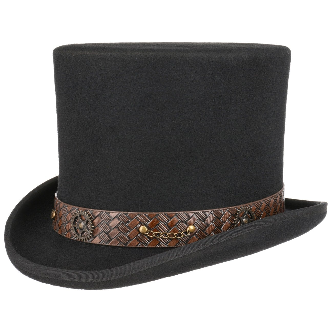 Haut-de-forme Mad Hatter Steampunk by Conner  chapeau en feutre de laine