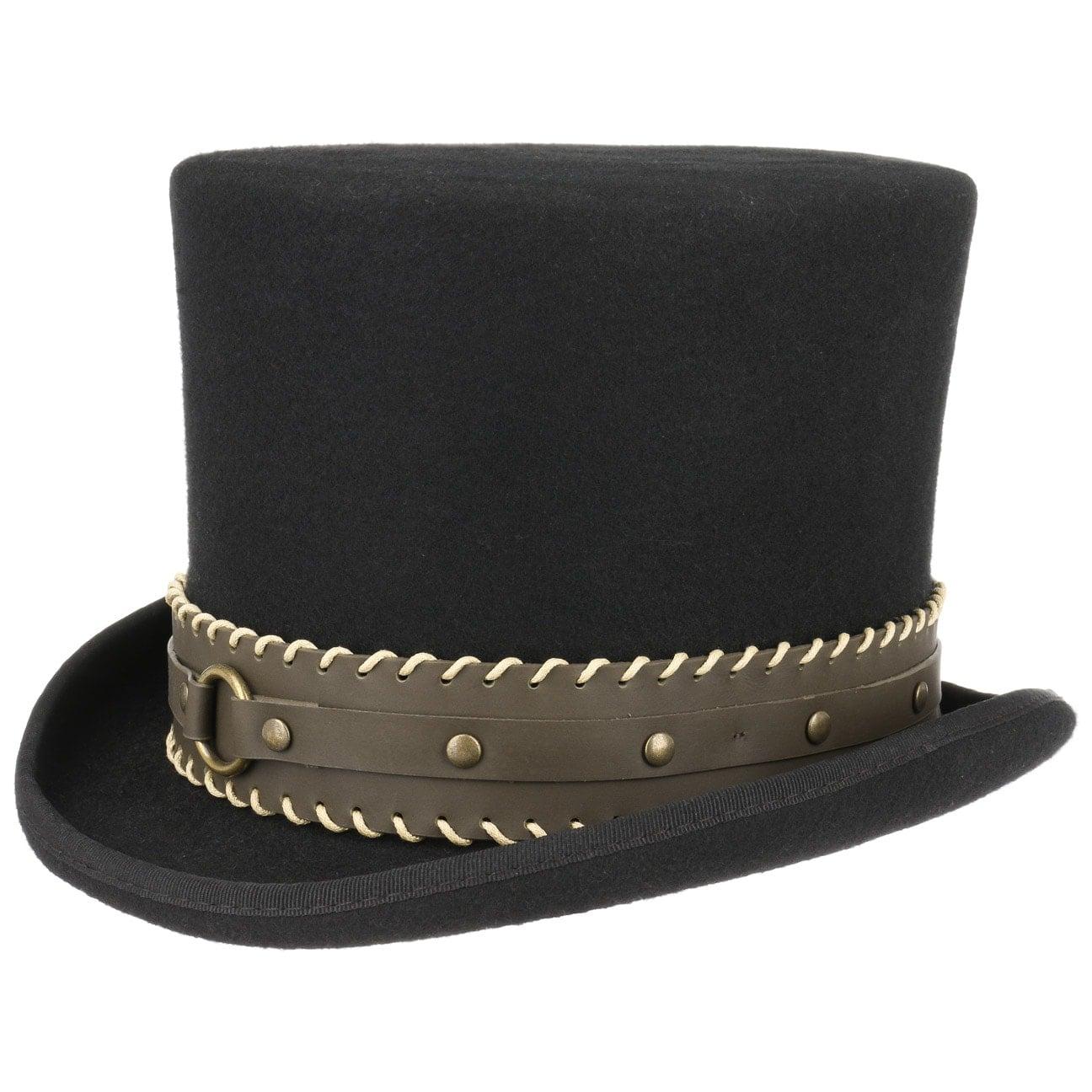 Haut-de-forme The Grinder Steampunk by Conner  chapeau en feutre de laine