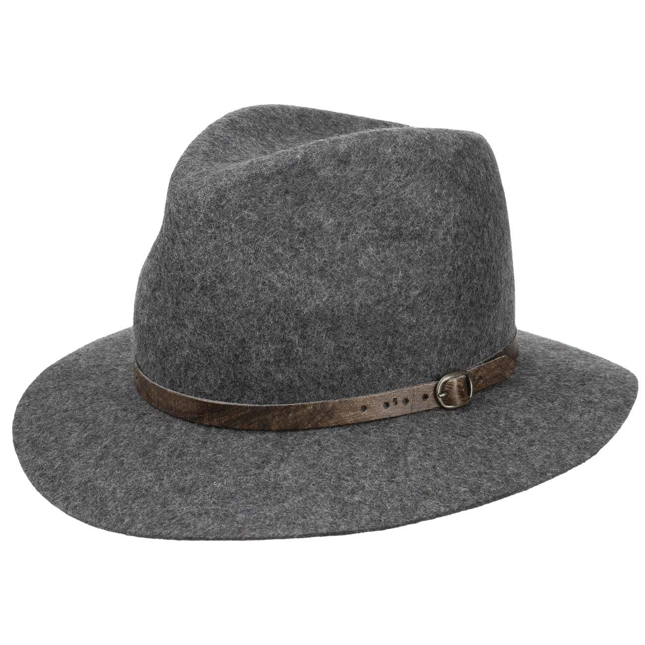 Chapeau Mélange avec Bande de Cuir by Lipodo  chapeau en feutre de laine