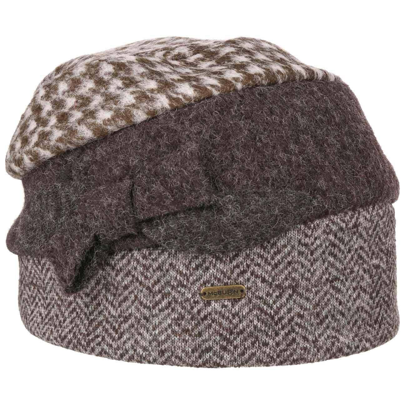 Bonnet en Laine Tri-Patterned by McBURN  bonnet beanie