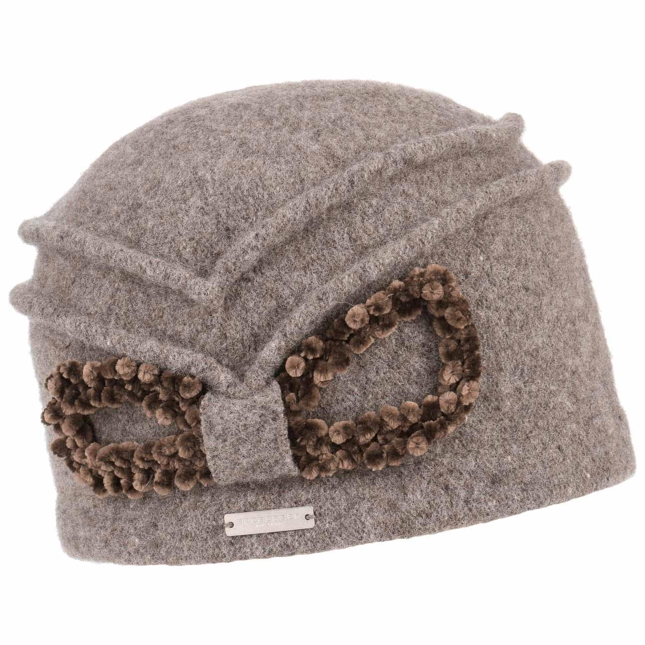 Bonnet en Laine Foulée Chenille by Seeberger  bonnet pour femme