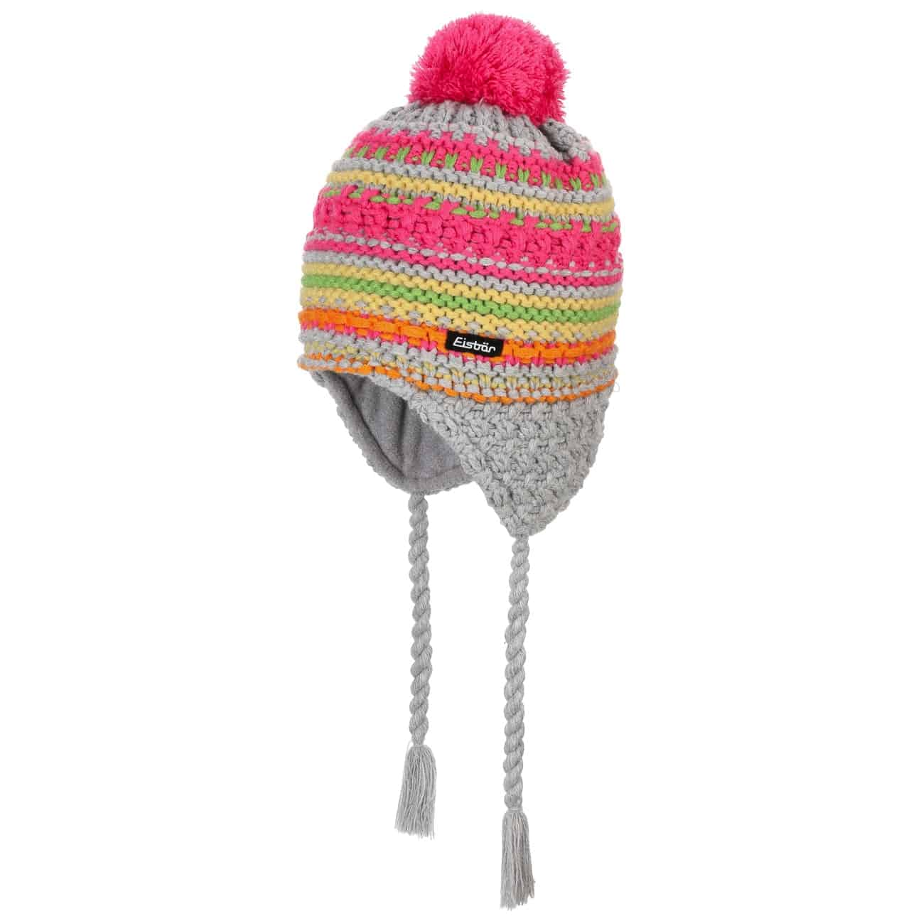 Bonnet à Pompon Colour Stripes by Eisbär  bonnet protège oreilles