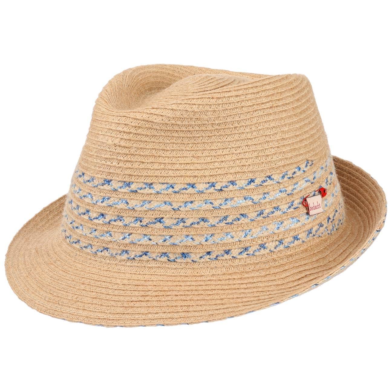 Chapeau en Paille Stripes Trilby by bedacht  chapeau d`été