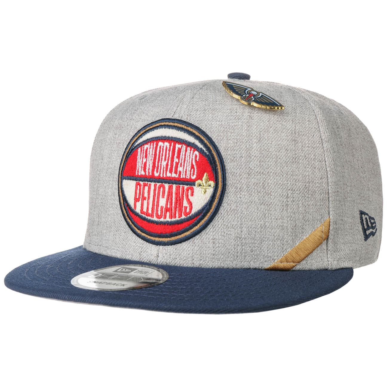 Casquette 9Fifty DRAFT Heather Pelicans by New Era  casquette snapback