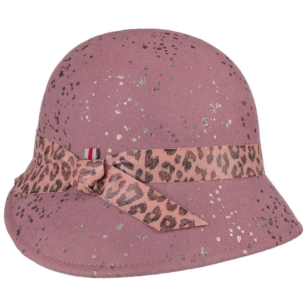 Chapeau Cloche avec Bande Léopard by bedacht  chapeau en feutre de laine