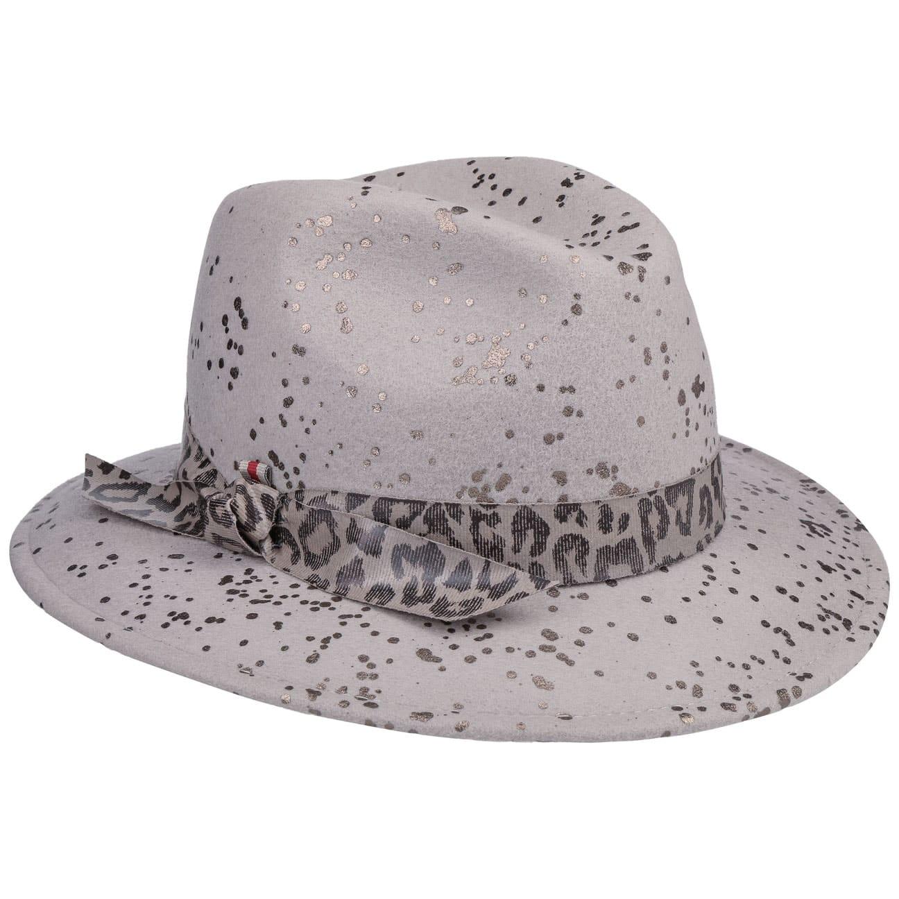 Chapeau en Feutre avec Bande Léopard by bedacht  chapeau en laine