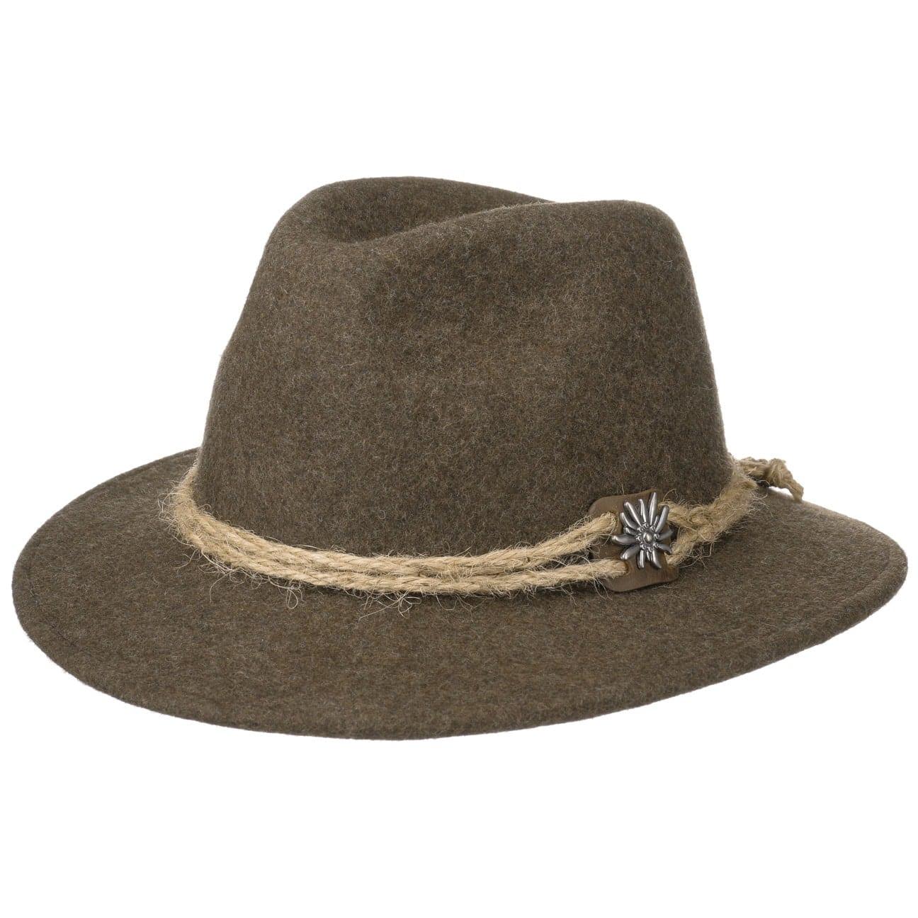 Chapeau Tyrolien Edelweiß by Lodenhut Manufaktur  chapeau en feutre de laine