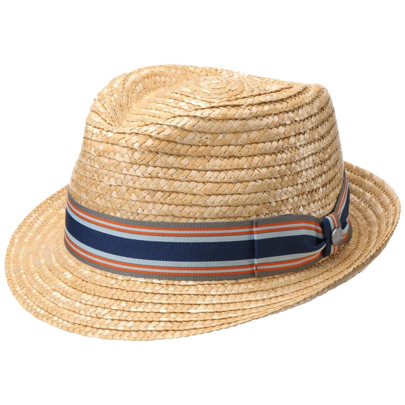 Chapeau en Paille Striped Ribbon Trilby by Lierys  chapeau de soleil
