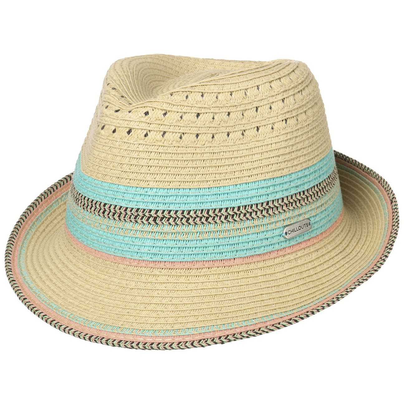 Chapeau en Paille Cardiff Trilby by Chillouts  chapeau de plage