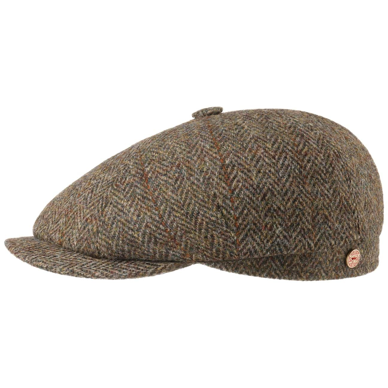 Casquette Plate Seven Big Harris Tweed by Mayser  casquette pour l`hiver
