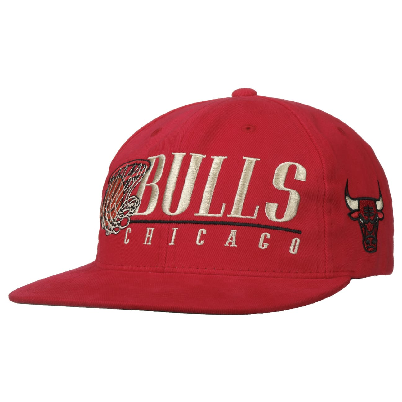 Casquette Vintage Hoop Bulls by Mitchell & Ness  casquette snapback