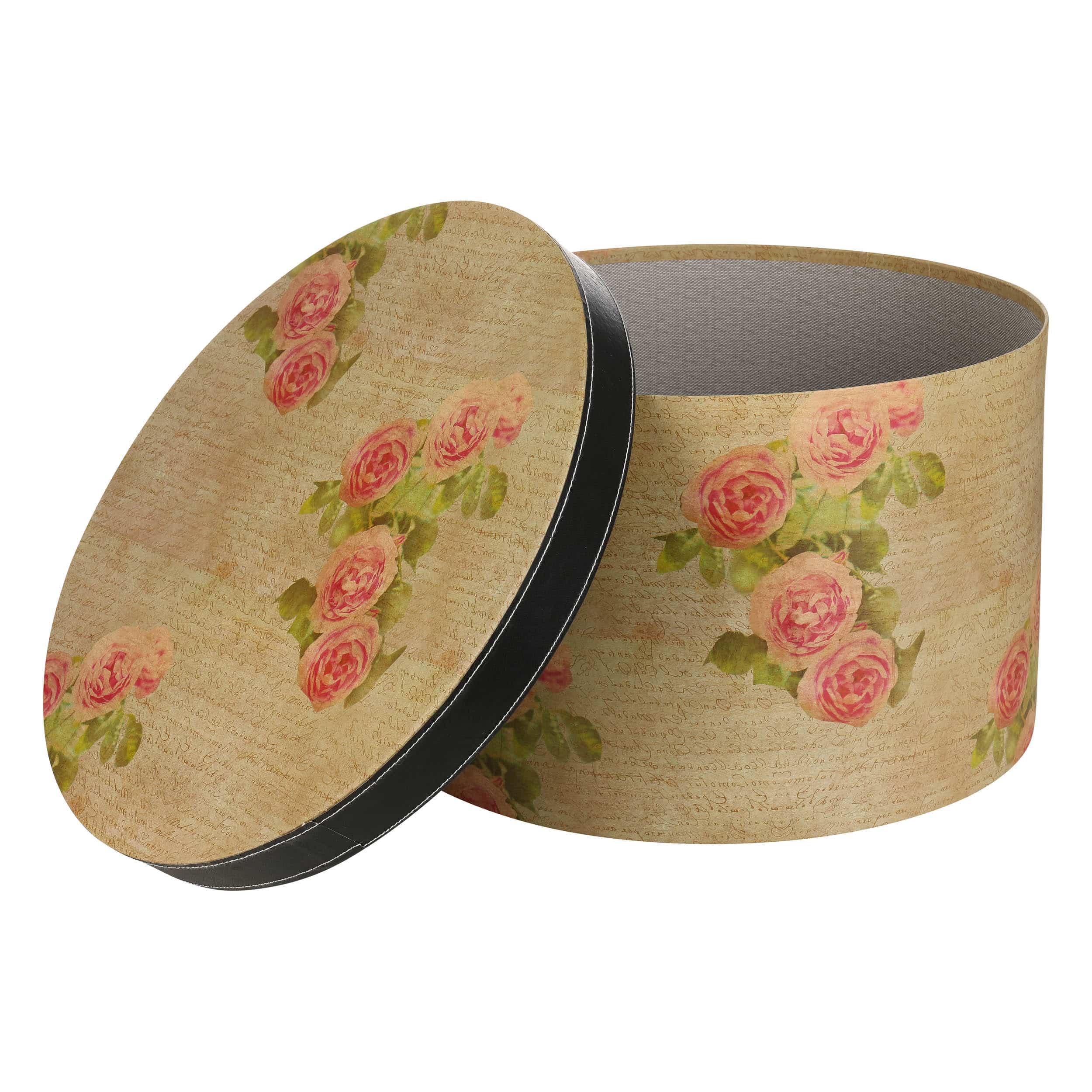 boite chapeau antique 42 cm by lierys eur 54 99 chapeaux casquettes et bonnets en ligne. Black Bedroom Furniture Sets. Home Design Ideas