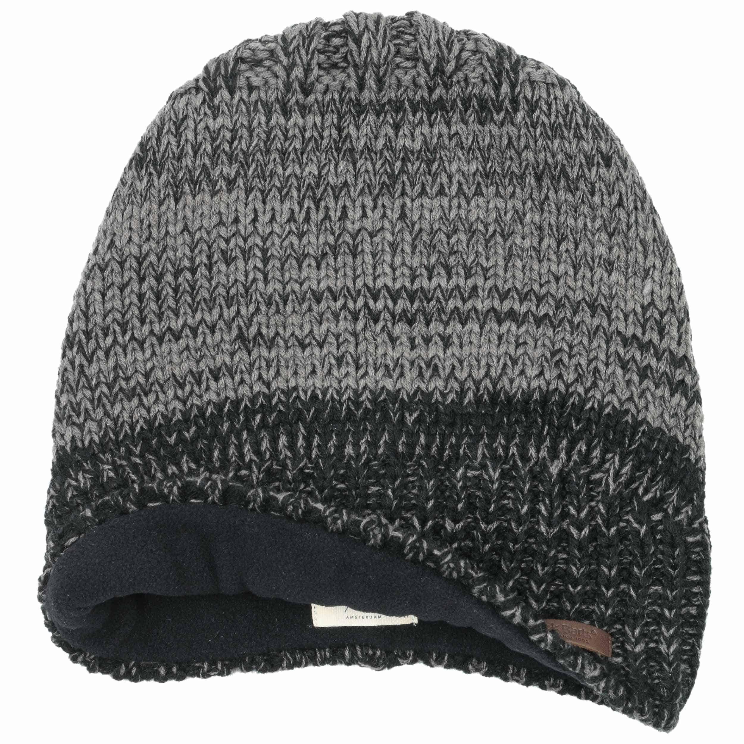 d55622e44ee ... Bonnet Beanie Brighton by Barts - noir-gris 1 ...