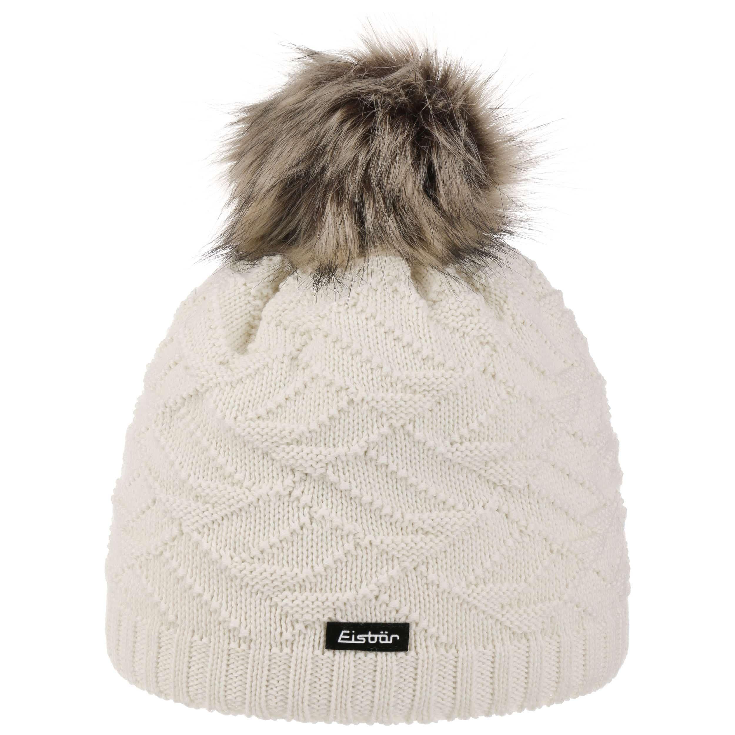 Bonnet Femme Pelita Faux Fur by Eisbär , blanc crème 1