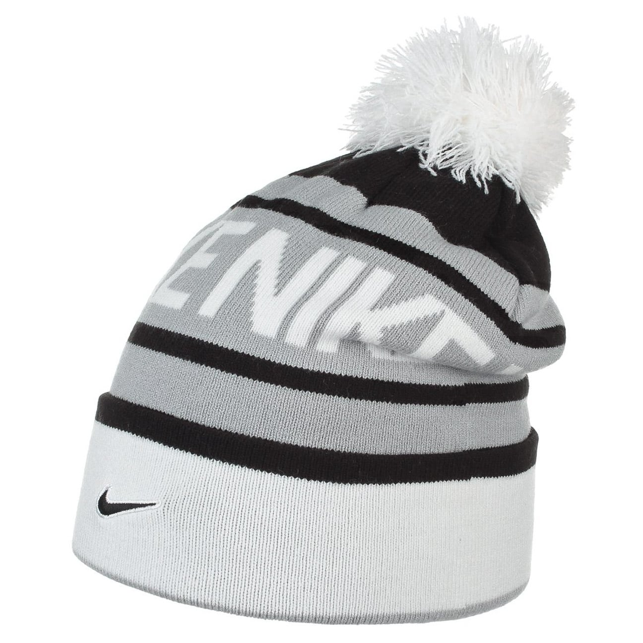 Bonnet à Pompon Snow by Nike , noir 1