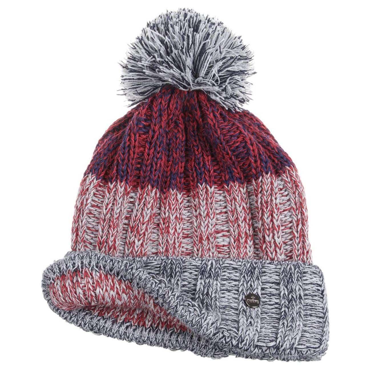 Bonnet pompon tricolor by lierys eur 24 95 chapeaux - Chez pompon bordeaux ...