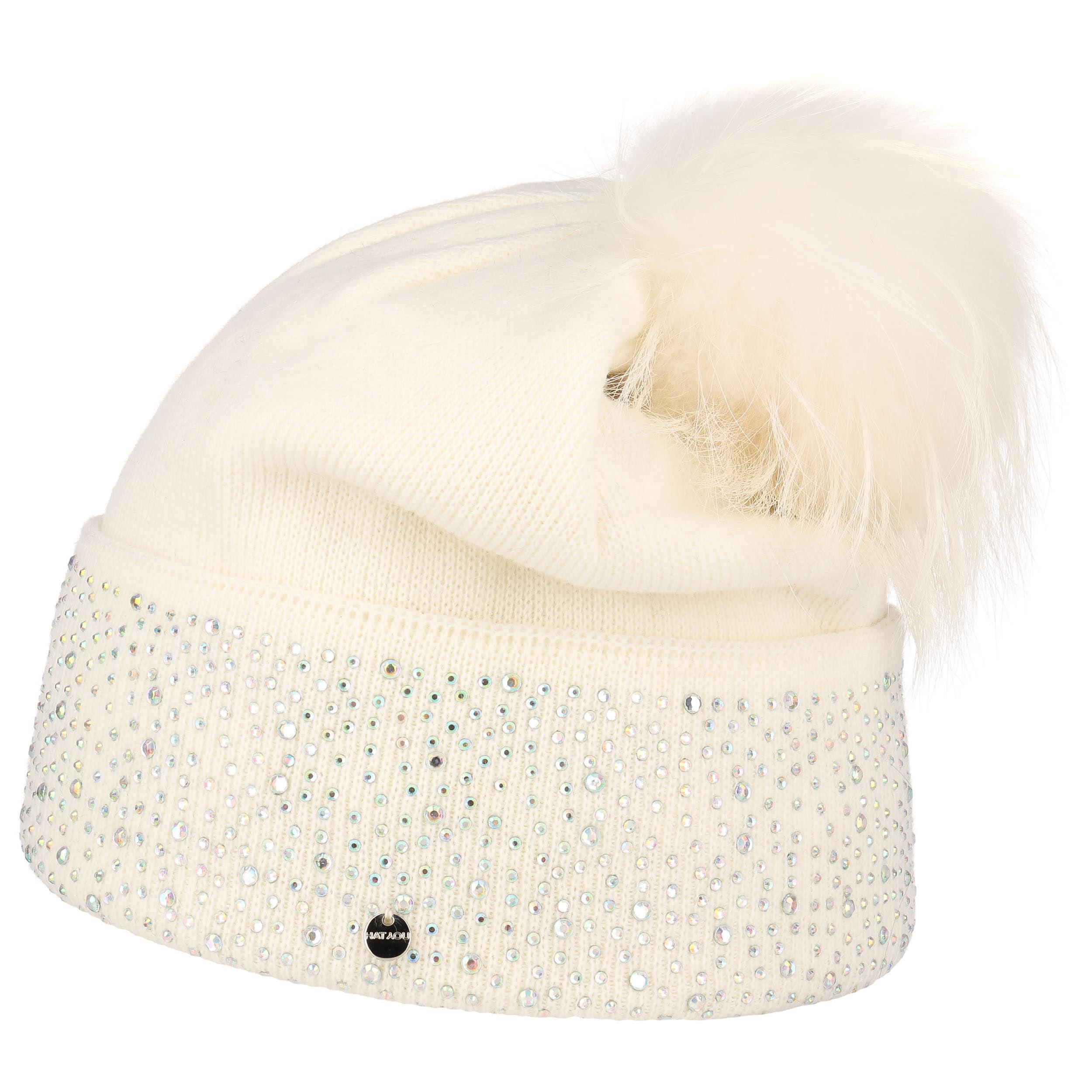 vente chaude large choix de designs mode la plus désirable Bonnet à Pompon avec Strass