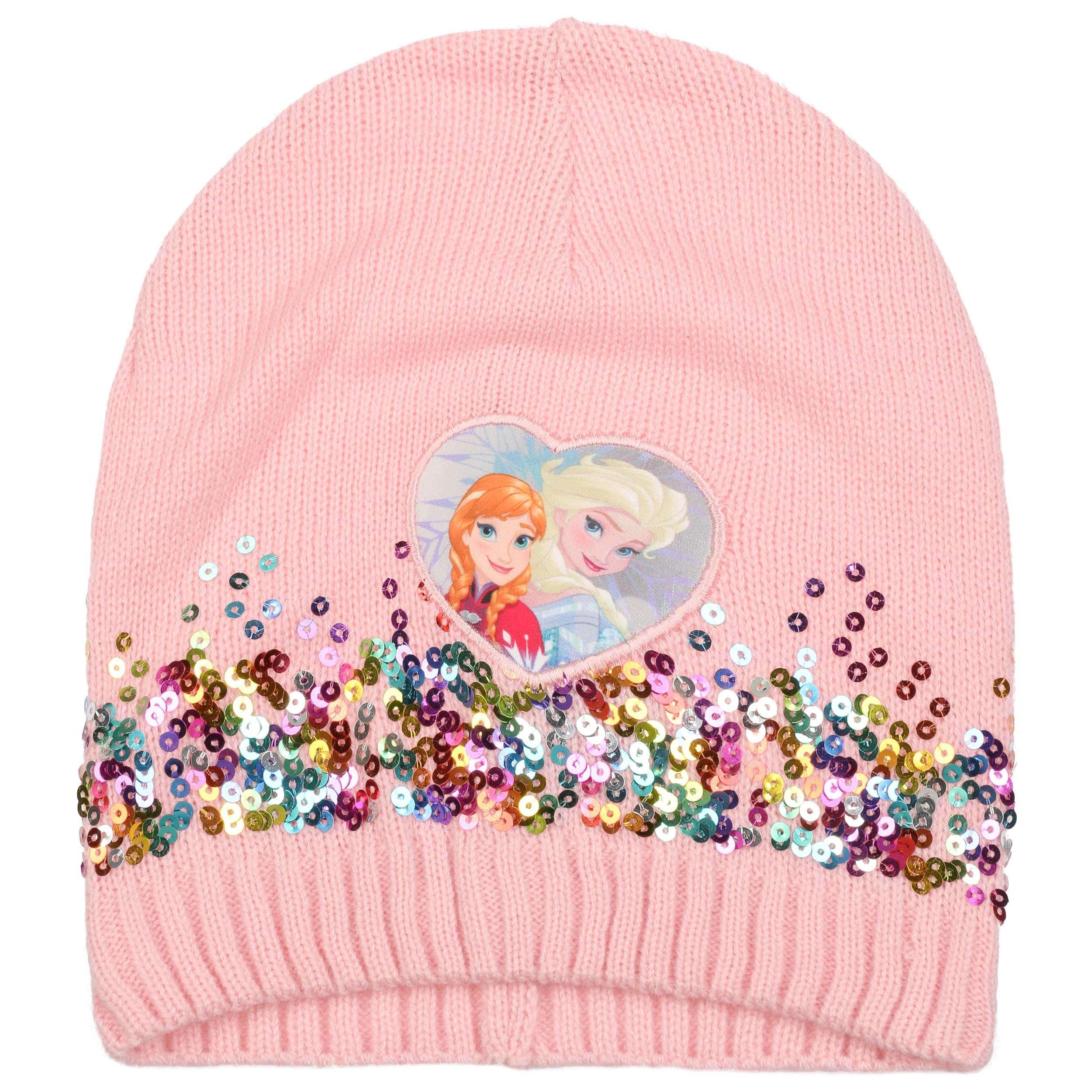 Black Sugar Lot de 2 pi/èces Bonnet Elsa Anne Chaud Bleu Violette Chapeau Casquette la Reine des neiges en Laine