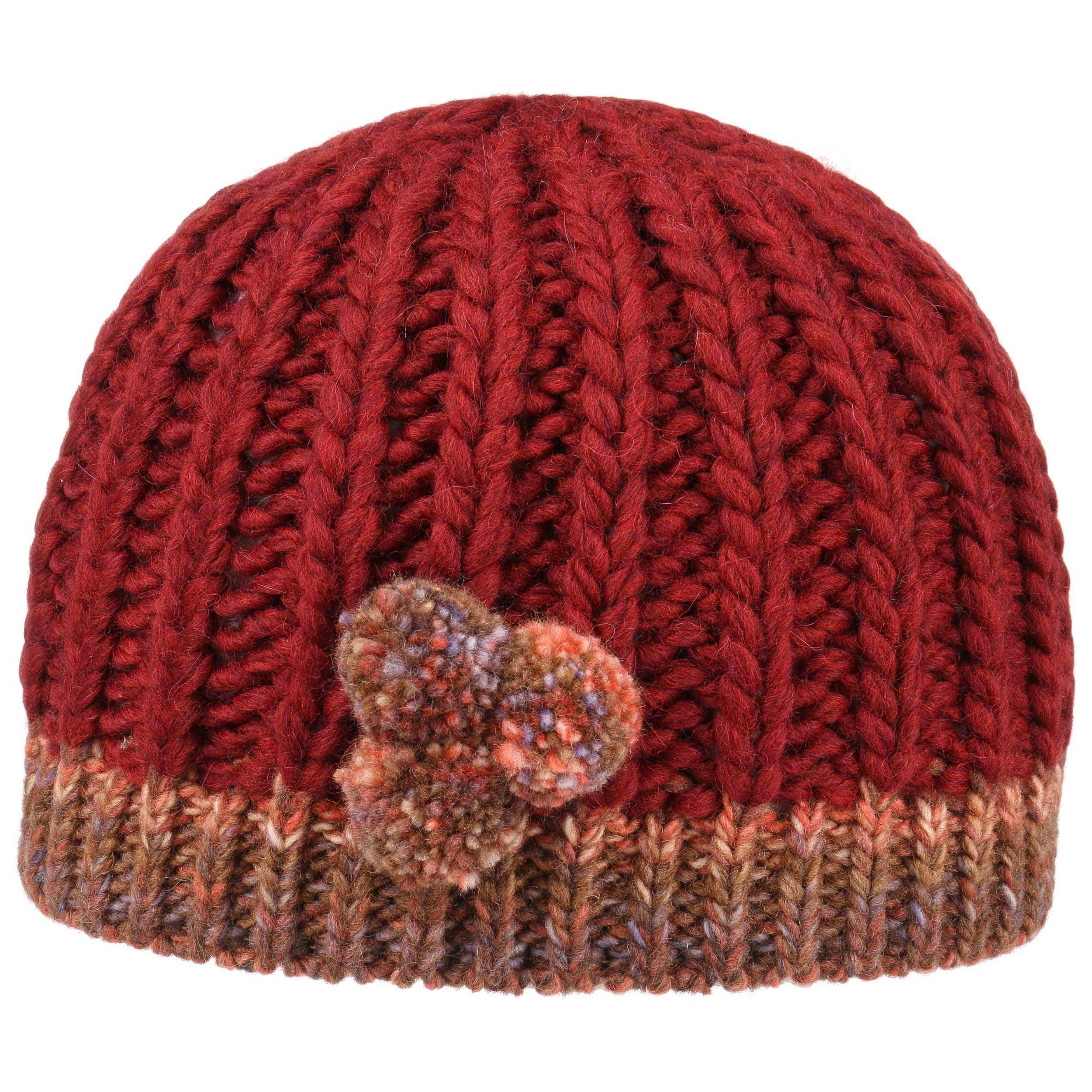 Bonnet en Tricot Mini,Pompon by Lierys , rouge foncé 3