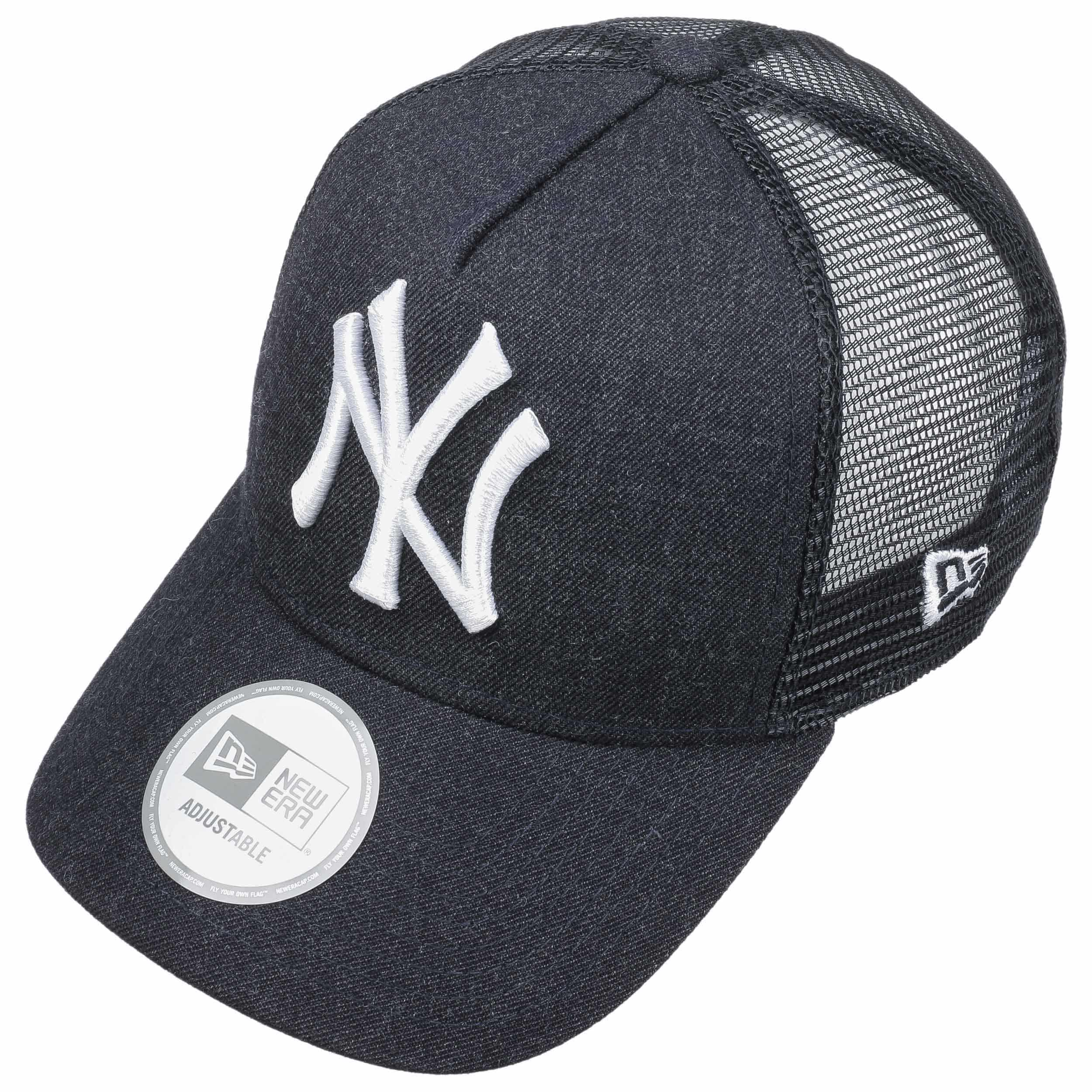037aa5788d546 Casquette Heather NY Trucker by New Era - bleu foncé 1 ...