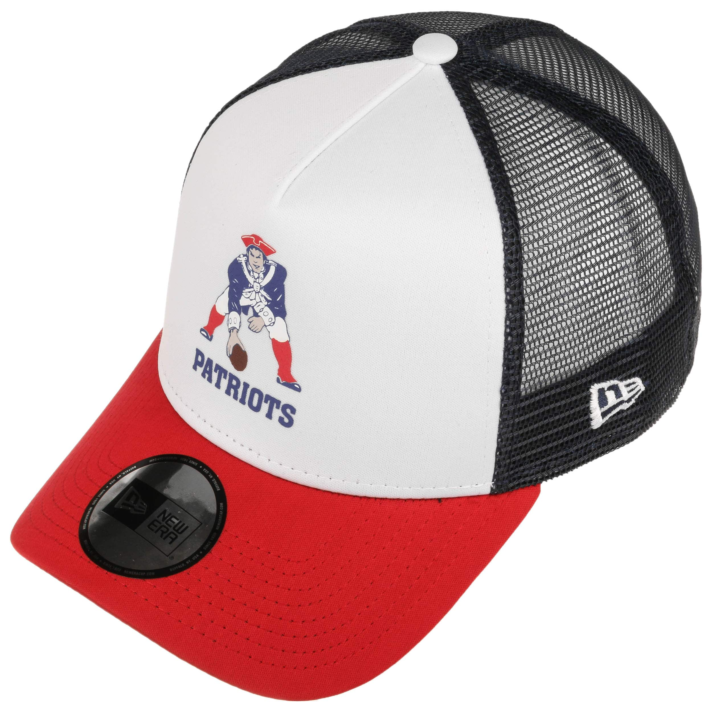 3ebccf8fa1e9 Casquette NFL Throwback Trucker Pats by New Era - blanc 1 ...