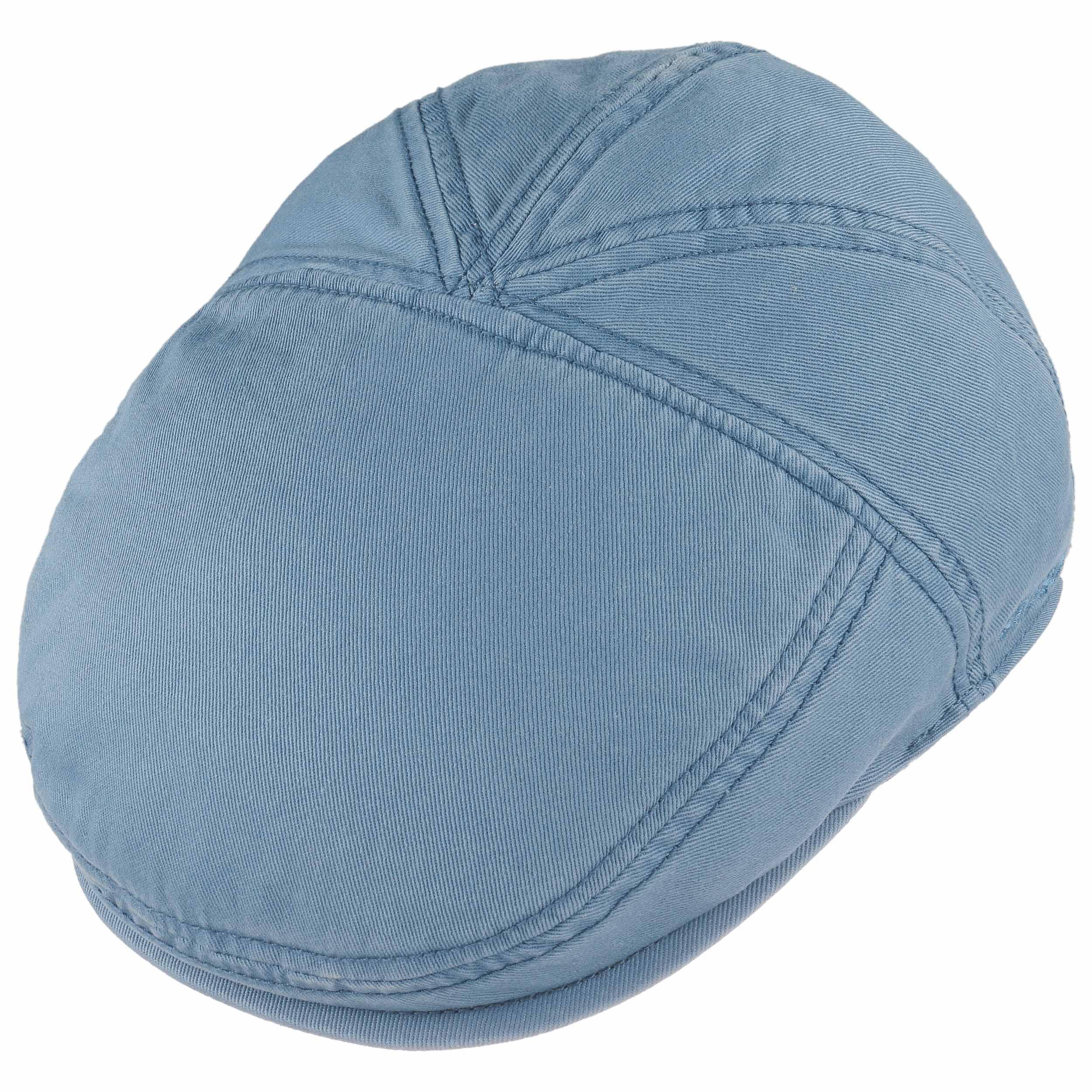 5d5740c4e8aa0 ... Casquette Plate Paradise Cotton by Stetson - bleu clair 1 ...