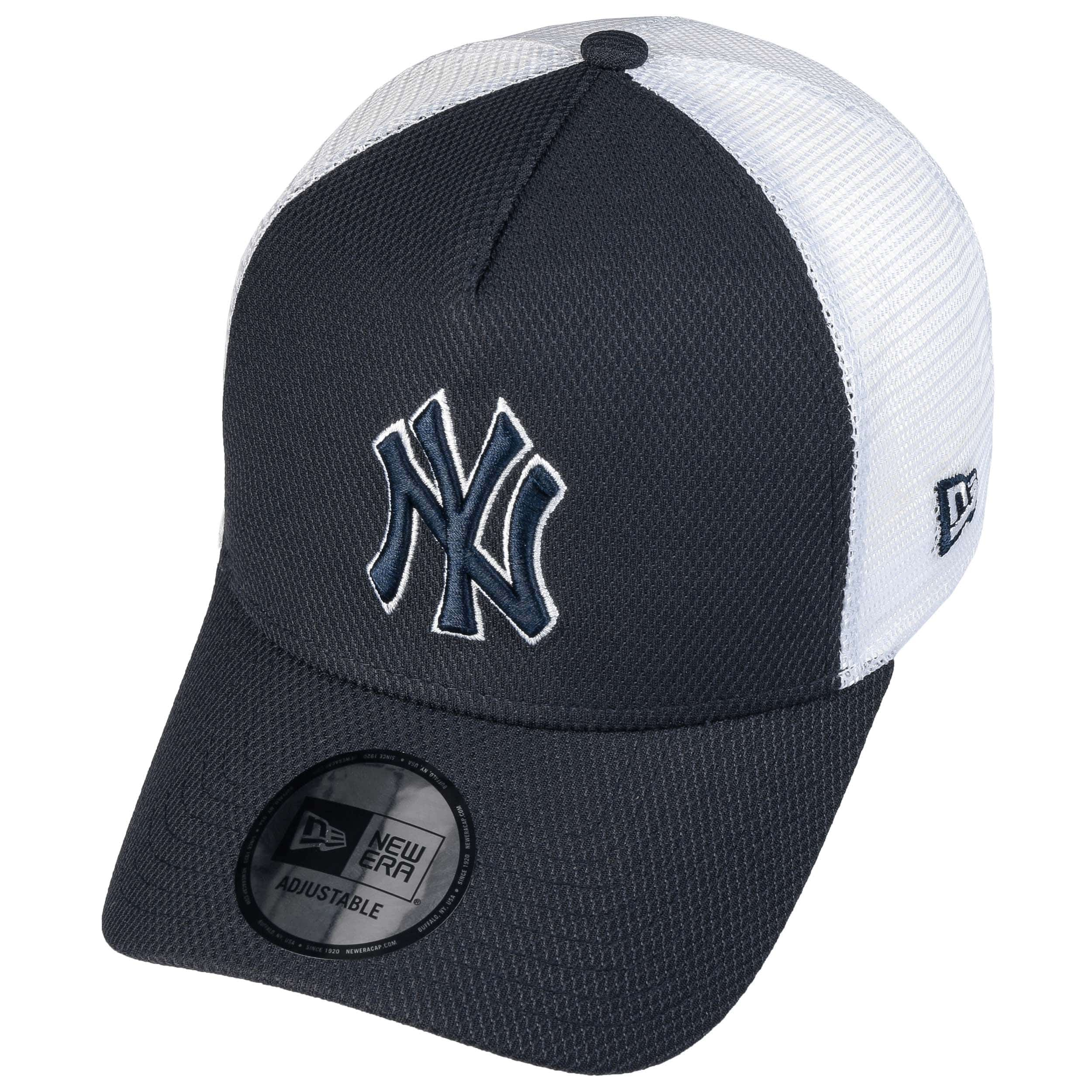 18120cb4a05ba Casquette Trucker Diamond Era Yankees by New Era - bleu foncé 1 ...