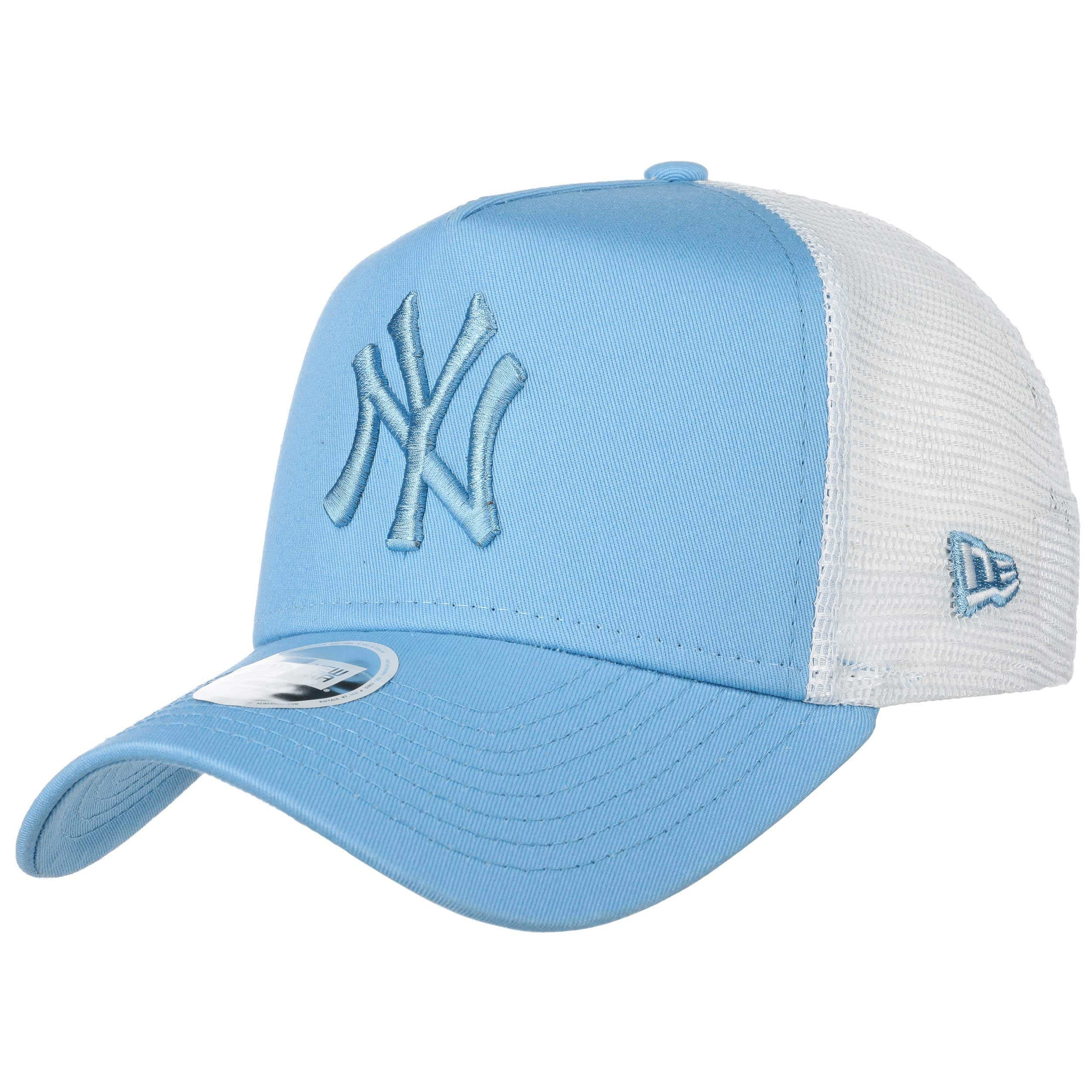 f2216ba446a13 ... Casquette Trucker Ess Yankees MLB by New Era - bleu clair 7