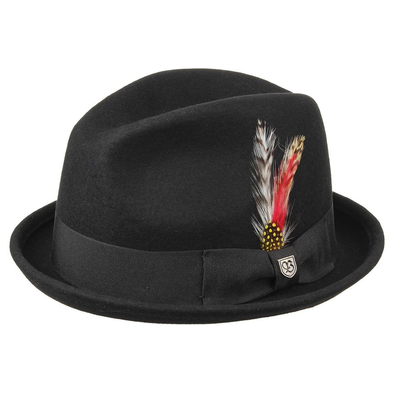c125467e9ec ... Chapeau Gain Wool Player by Brixton - noir 1 ...