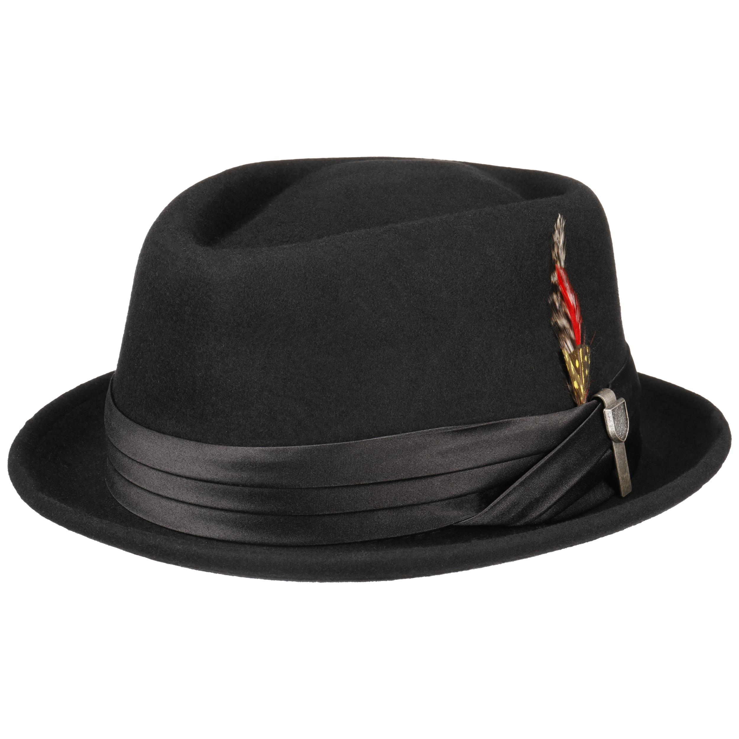 ba71ce038c1 ... Chapeau en Feutre Stout Pork Pie by Brixton - noir 7 ...