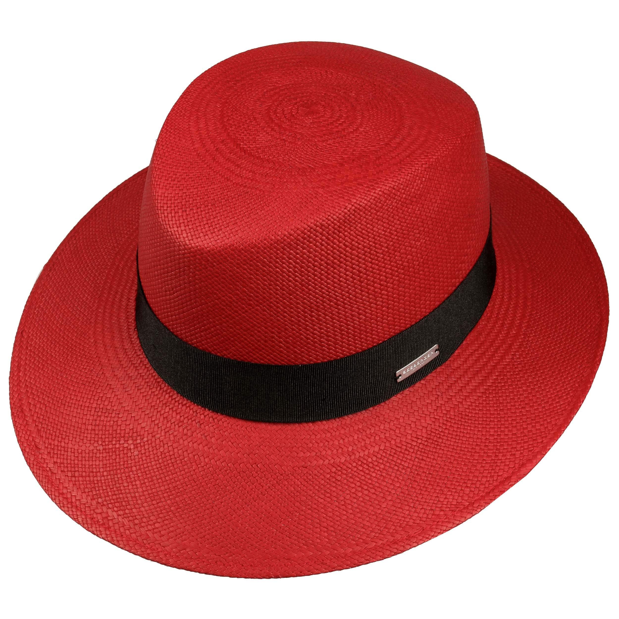 1b87f54a89cd5 ... Chapeau pour Femme Panama Bogart by Seeberger - rouge 1 ...