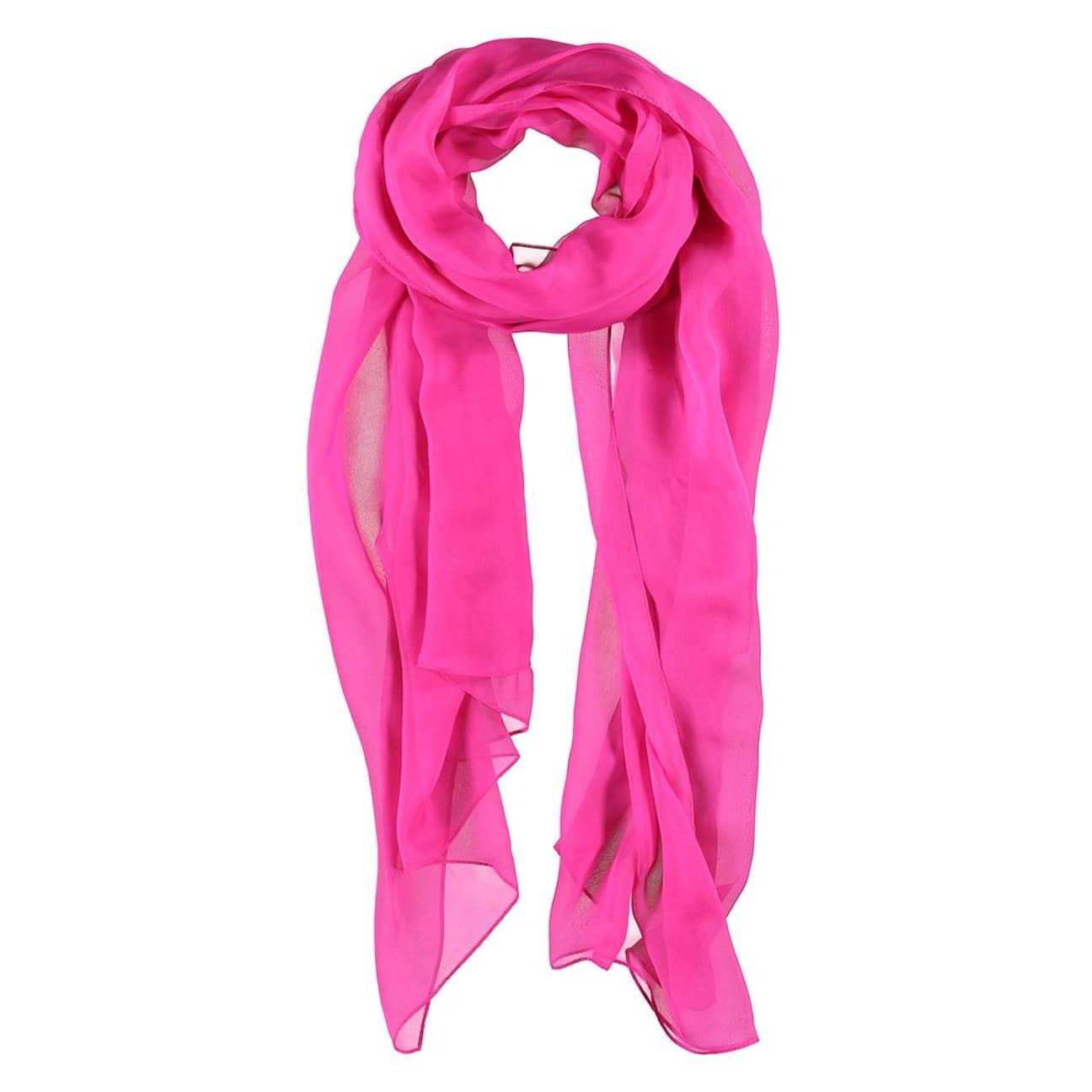 8066ad3c664 ... Foulard Soie Chiffon by Passigatti - pink 1